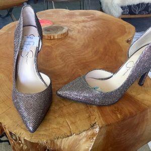 Jessica Simpson pumps silver sparkle Sz 6 prom